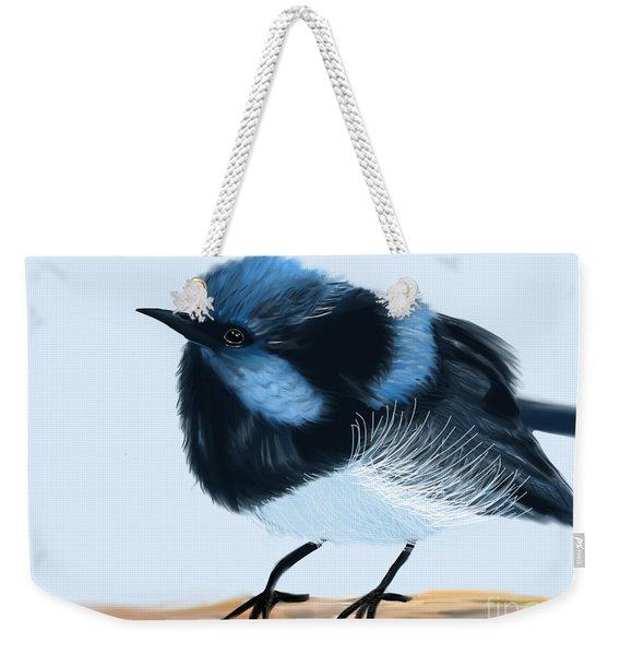Blue Wren Beauty Weekender Tote Bag