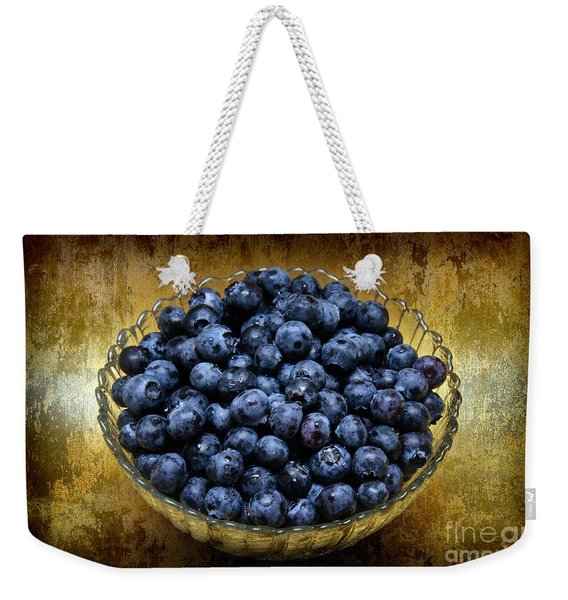 Blueberry Elegance Weekender Tote Bag