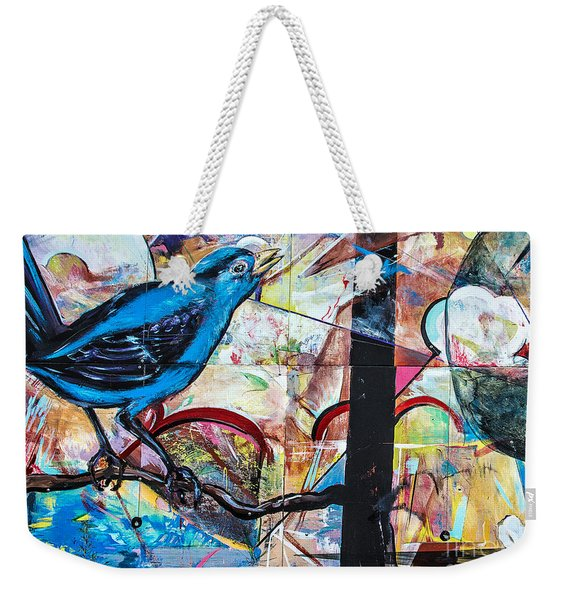 Bluebird Sings With Happiness Weekender Tote Bag