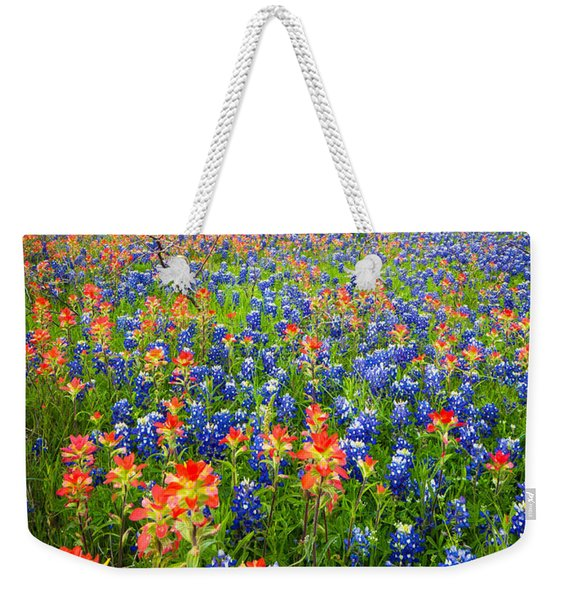 Bluebonnets And Prarie Fire Weekender Tote Bag