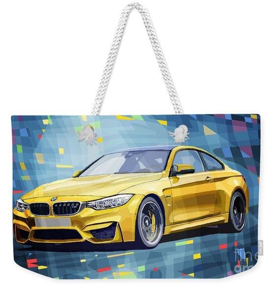 Bmw M4 Blue Weekender Tote Bag