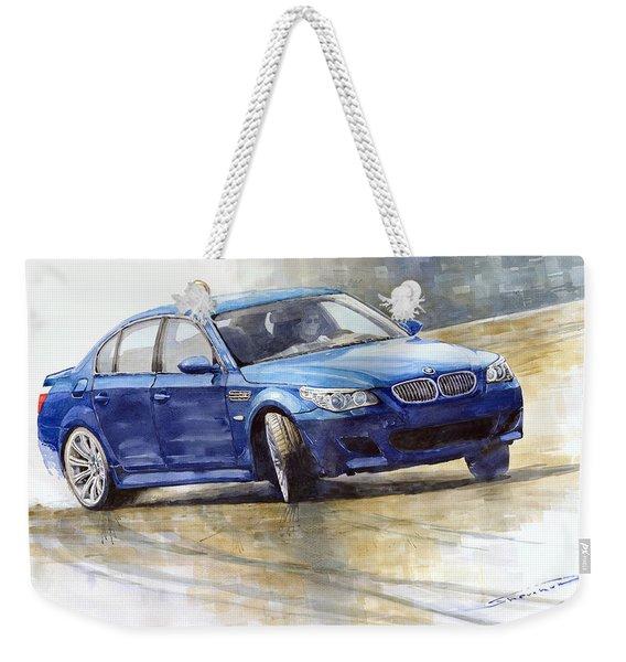 Bmw M5 2006 01 Weekender Tote Bag