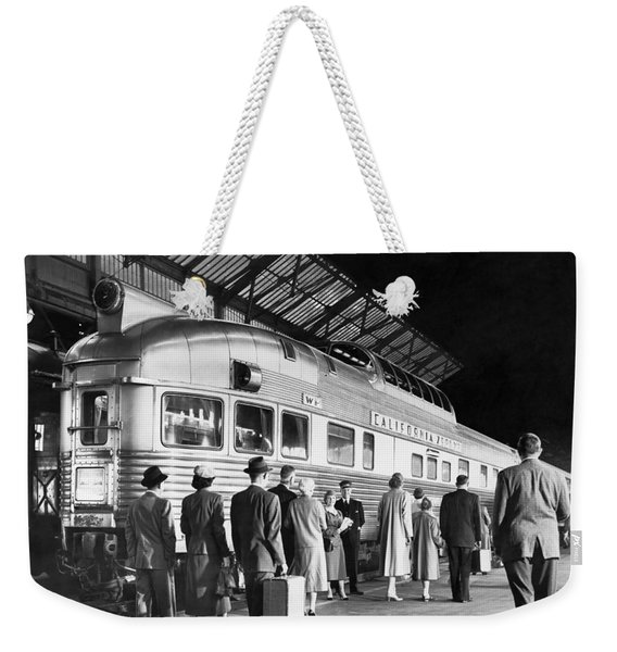Boarding The California Zephyr Weekender Tote Bag