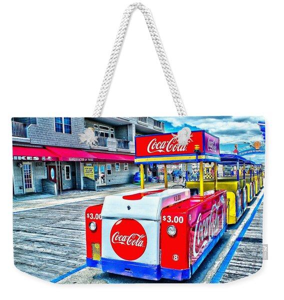 Boardwalk Tram  Weekender Tote Bag