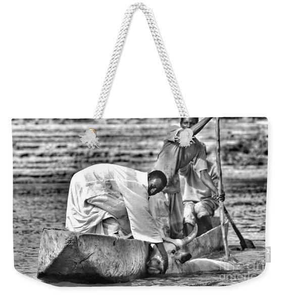 Boat And Cow  Weekender Tote Bag