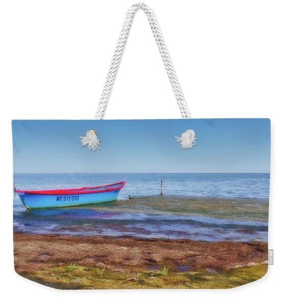 Boat At The Pond Weekender Tote Bag