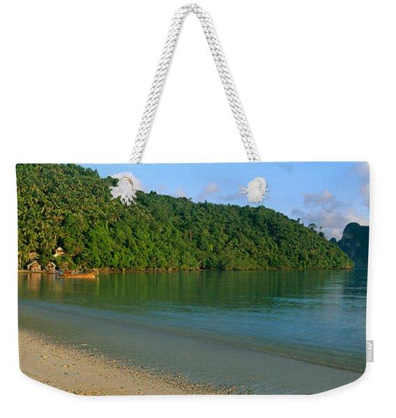 Boat In The Sea, Loh Dalam Bay, Phi Phi Weekender Tote Bag
