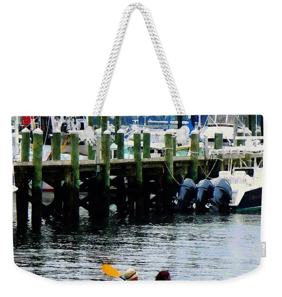 Boat - Kayaking In Newport Ri Weekender Tote Bag