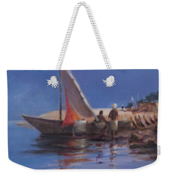 Boat Yard, Kilifi, 2012 Acrylic On Canvas Weekender Tote Bag