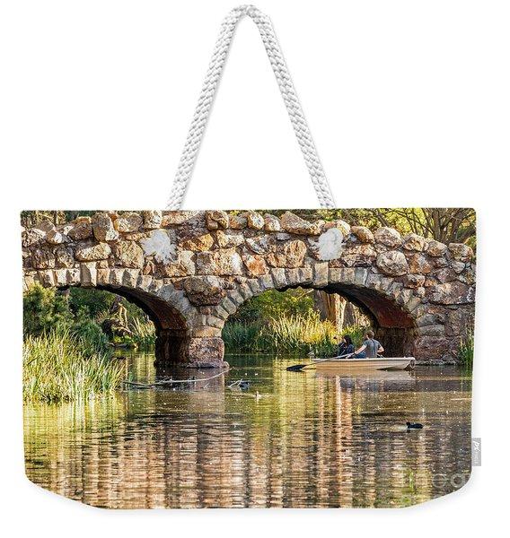 Boaters Under The Bridge Weekender Tote Bag
