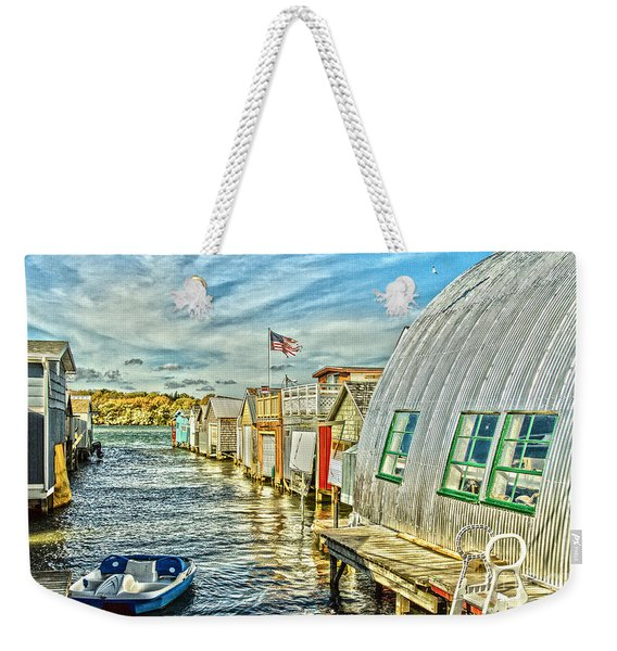Boathouse Alley Weekender Tote Bag