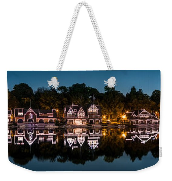 Weekender Tote Bag featuring the photograph Boathouse Row Panorama by Mihai Andritoiu