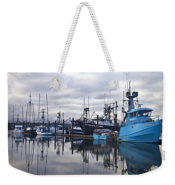 Boats In Harbor Newport Oregon Weekender Tote Bag