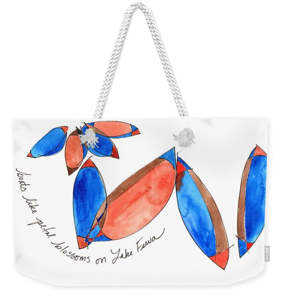 Boats Like Blossoms Weekender Tote Bag