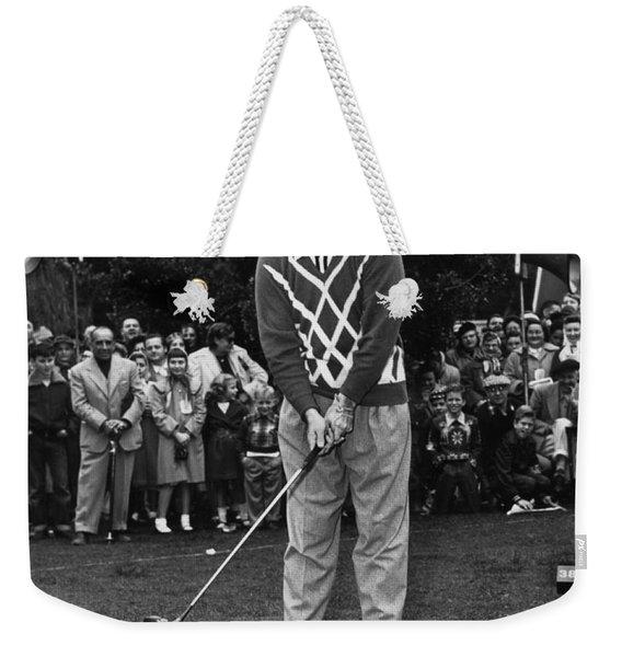 Bob Hope At Bing Crosby National Pro-am Golf Championship  Pebble Beach Circa 1955 Weekender Tote Bag