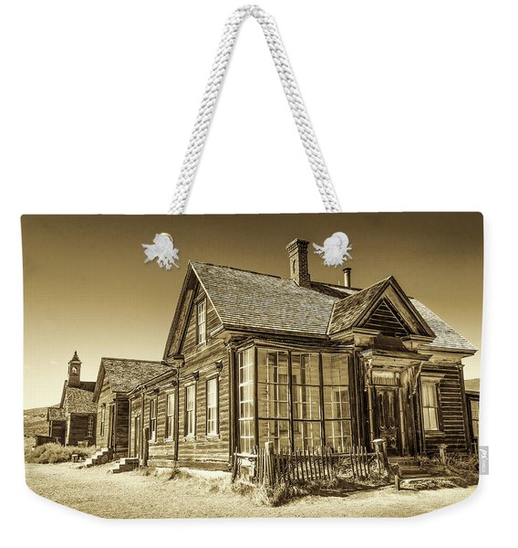 Weekender Tote Bag featuring the photograph Bodie Ghost Town by Susan Leonard