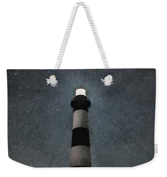 Bodie Island Light Midnight Weekender Tote Bag