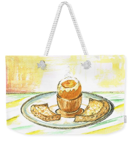Boiled Egg And Toast For Breakfast Weekender Tote Bag