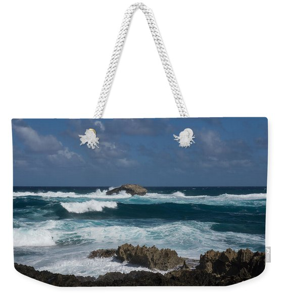 Boiling The Ocean At Laie Point - North Shore - Oahu - Hawaii Weekender Tote Bag
