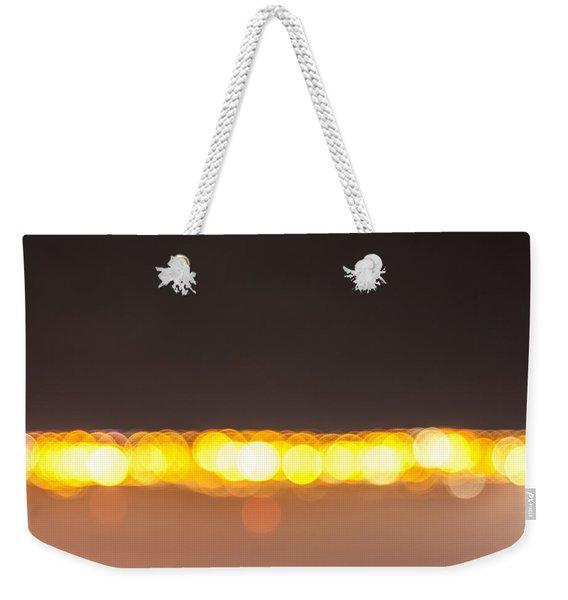 Bokeh Lights Weekender Tote Bag