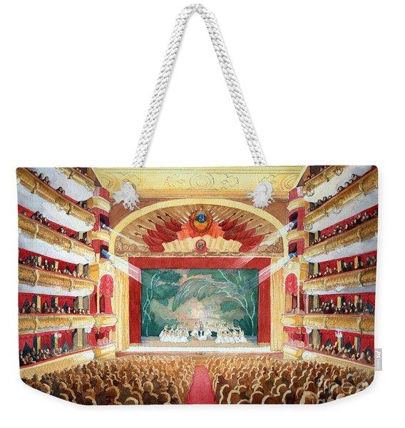 Weekender Tote Bag featuring the painting Bolshoi Ballet by Lora Serra