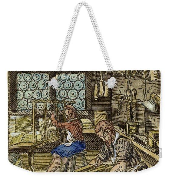 Bookbinder, 1568 Weekender Tote Bag