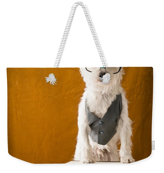 Bookish Dog Weekender Tote Bag