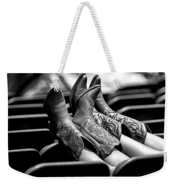 Boots Up - Bw Weekender Tote Bag