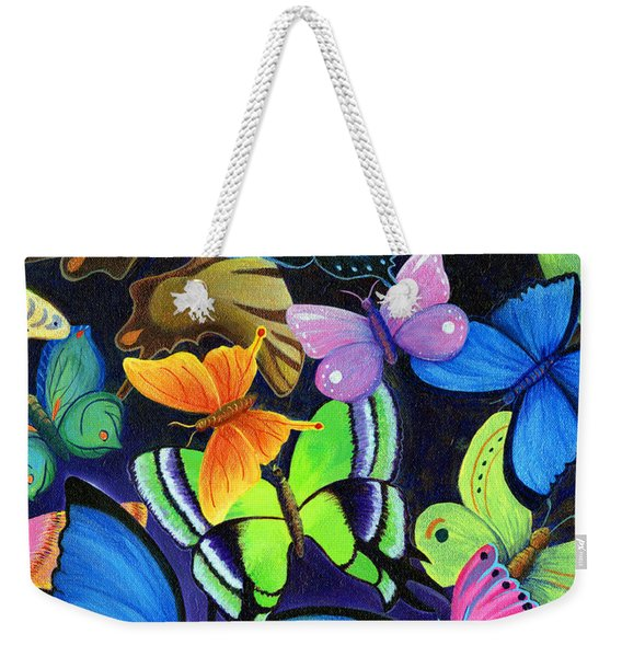Weekender Tote Bag featuring the painting Born Again by Nancy Cupp