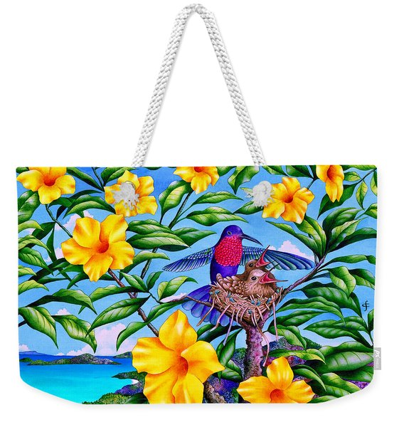 Born In Paradise Weekender Tote Bag