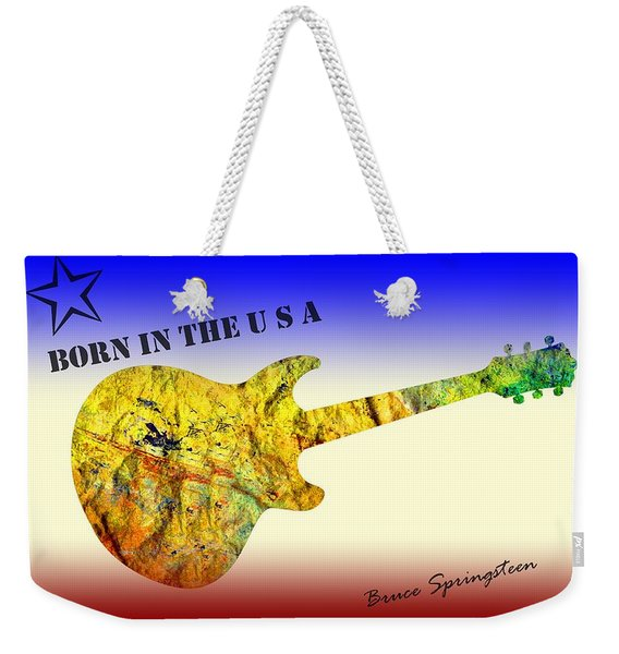 Born In The U S A Bruce Springsteen Weekender Tote Bag