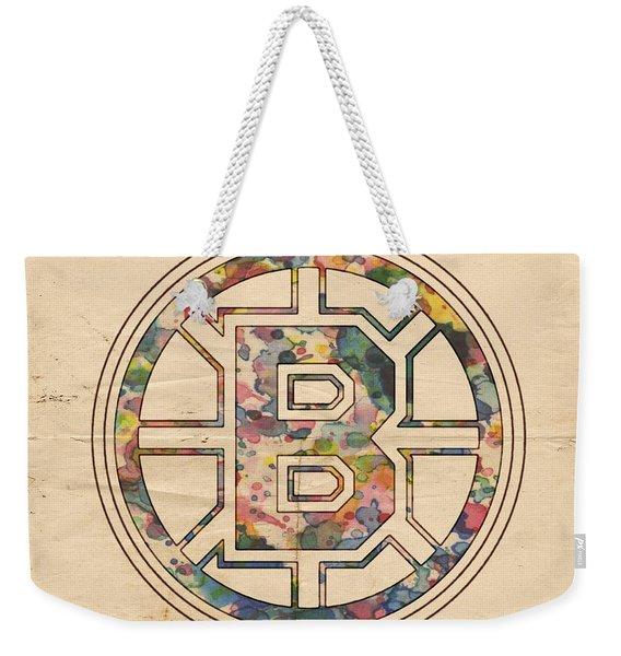 Boston Bruins Poster Art Weekender Tote Bag