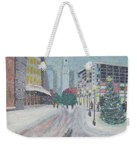 Boston First Snow Weekender Tote Bag