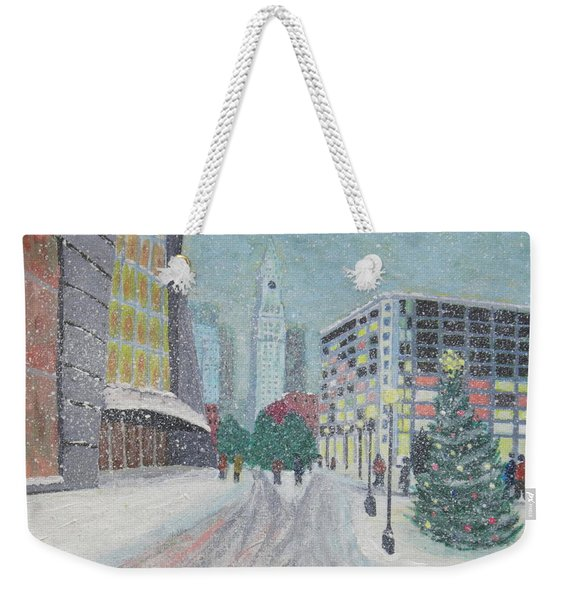 Boston First Snow Weekender Tote Bag