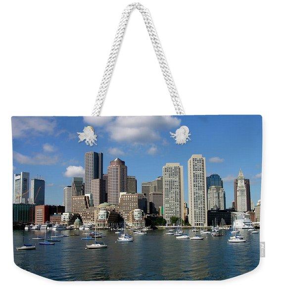 Boston Habor Skyline Weekender Tote Bag