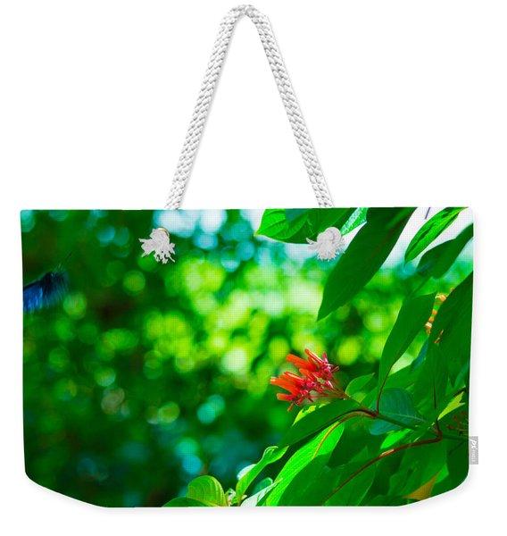Botanical Garden Butterfly Weekender Tote Bag