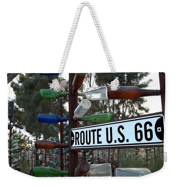 Bottle Trees Route 66 Weekender Tote Bag