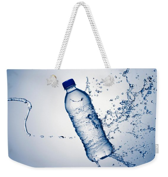 Bottle Water And Splash Weekender Tote Bag