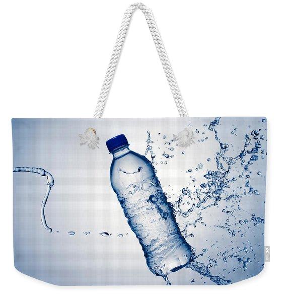 Bottle Water And Splash Weekender Tote Bag