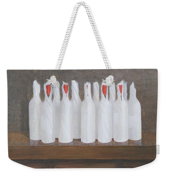 Bottles In Paper Weekender Tote Bag