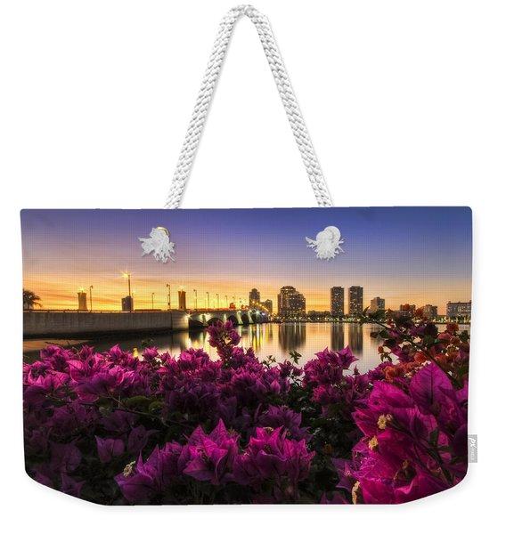 Bougainvillea On The West Palm Beach Waterway Weekender Tote Bag