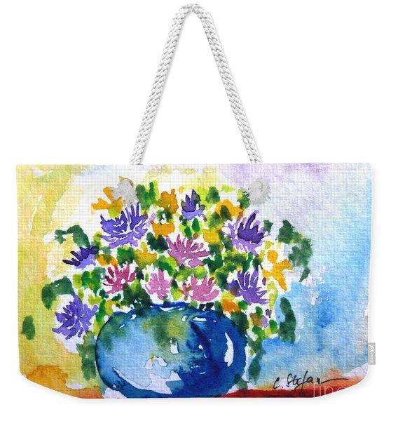 Bouquet Of Flowers In A Vase Weekender Tote Bag