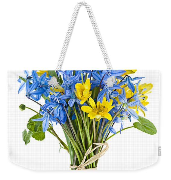 Bouquet Of Fresh Spring Flowers Weekender Tote Bag
