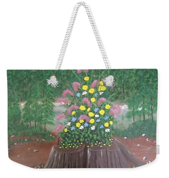 Bouquet On A Stump Weekender Tote Bag
