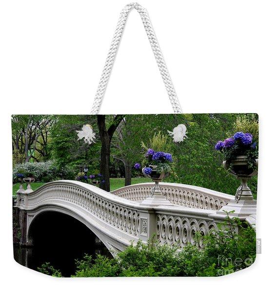 Bow Bridge Flower Pots - Central Park N Y C Weekender Tote Bag