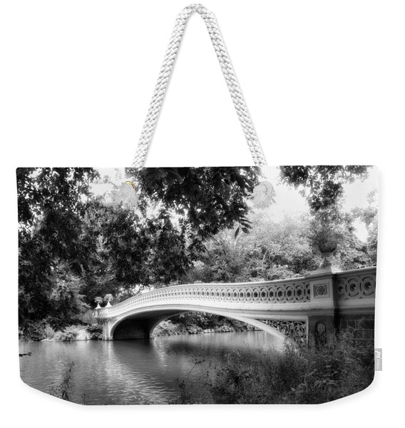 Bow Bridge In Black And White Weekender Tote Bag
