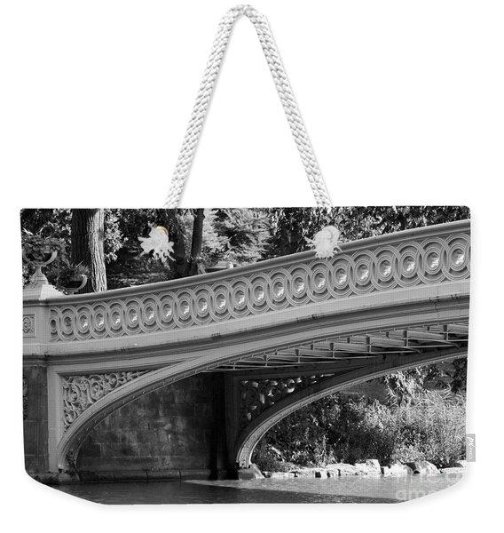 Bow Bridge Texture Bw Weekender Tote Bag