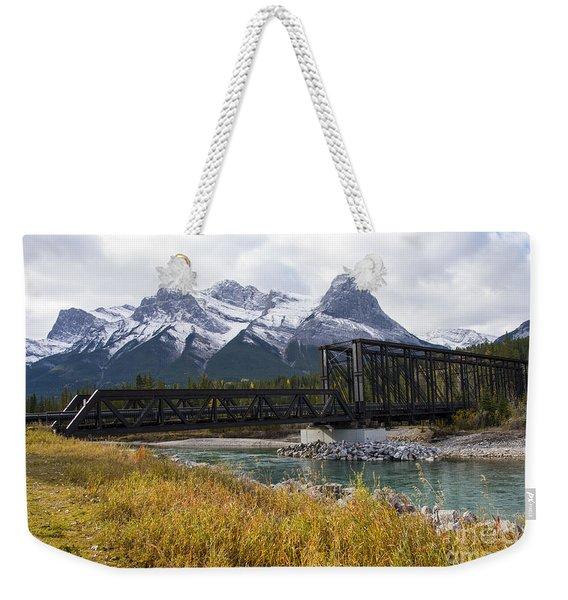 Bow River Railroad Trestle Weekender Tote Bag