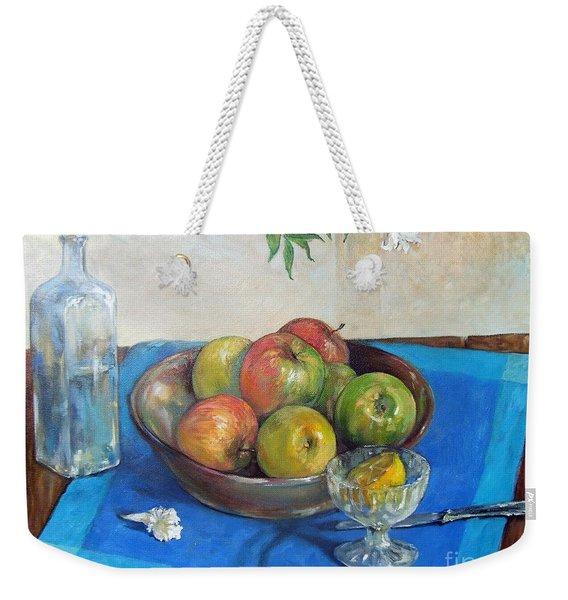 Bowl With Apples Weekender Tote Bag