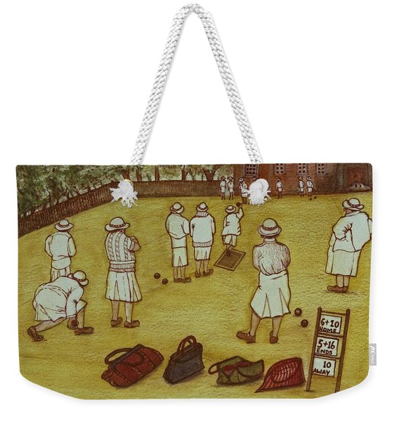 Bowling, 1988 Watercolour On Paper Weekender Tote Bag